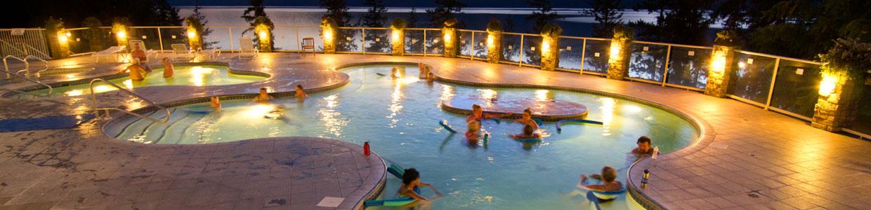 Revelstoke Hot Springs Tour overlooking the Upper Arrow Lakes