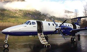 Beechcraft 1900 Series on the runway from Vancouver to Revelstoke