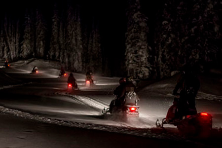 Revelstoke Evening Alpine Sledding Tour