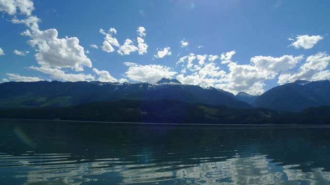 View of Mount Begbie while Kayaking in Revelstoke