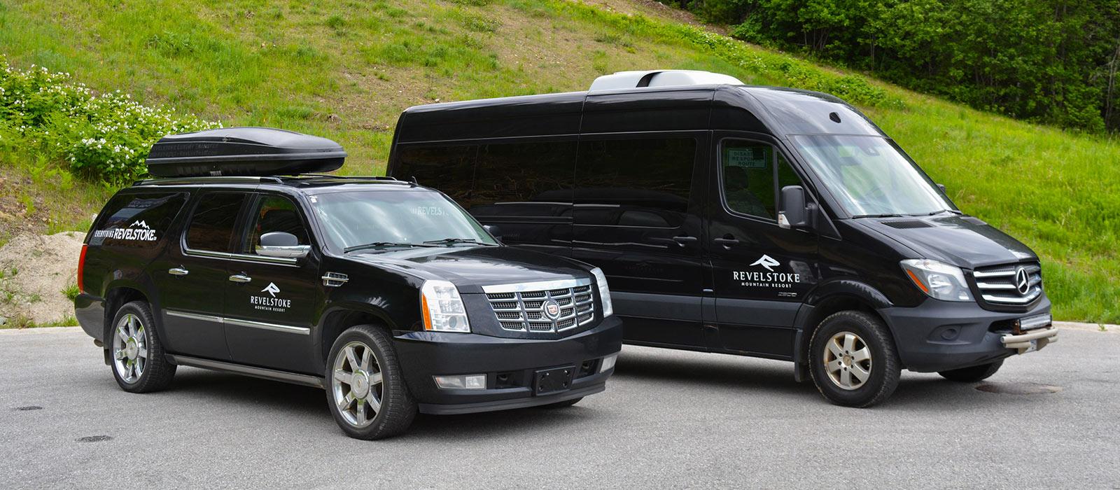 Revelstoke Private Transfer Vehicles